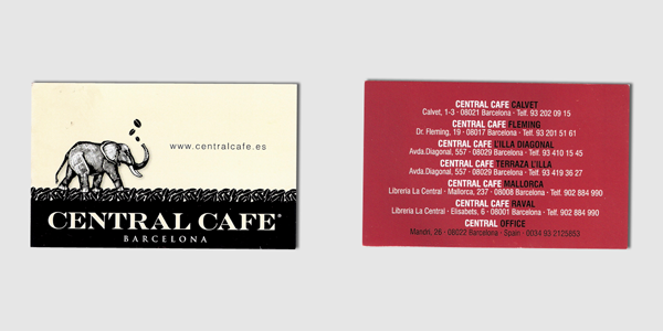 Central Cafe Card